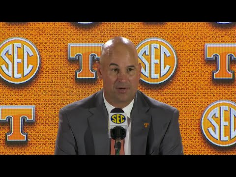 Coach Jeremy Pruitt, Tennessee Vols takes the stage at SEC Media Days