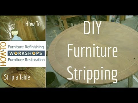 Diy Furniture Makeover Furniture Stripping Tutorial Youtube