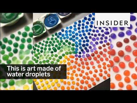 19-Year-Old Makes Colorful Designs Out Of Water Droplets