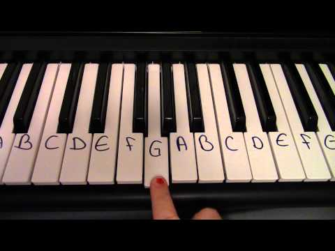Rue's Whistle Piano Tutorial, First Four Notes - The Hunger Games