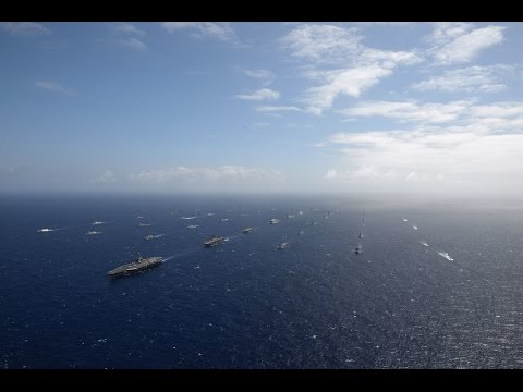 Forty Ships and Submarines Underway in Close Formation During RIMPAC 2016