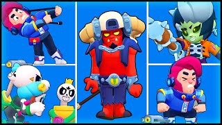 ALL NEW SKINS Winning & Losing Animations - Brawl Stars Brawl-o-ween #brawlmaps