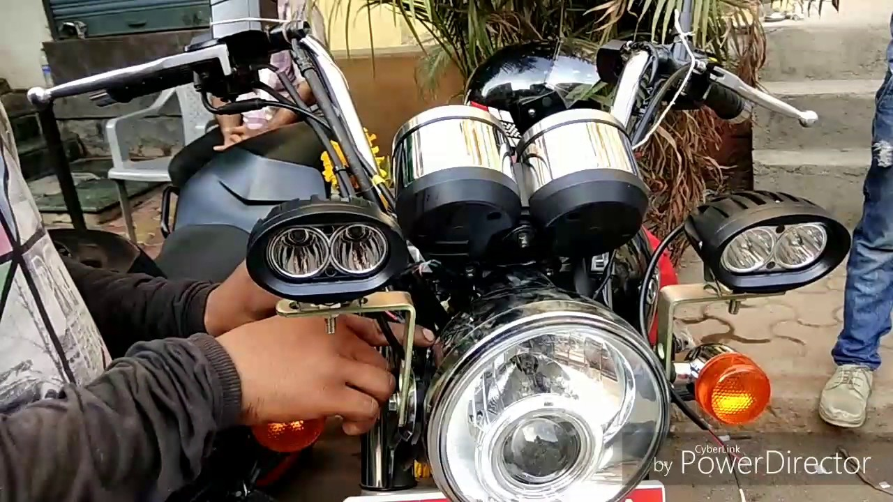 How To Install Fog Lights In Royal Enfield Thunderbird Youtube A 500 Light Wiring Diagram