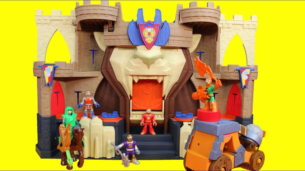Imaginext Fisher Price Lion's Den Castle Knights Battle Ninja Warriors & DC Slade - YouTube