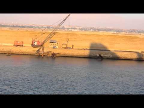 Cruising through Suez Canal