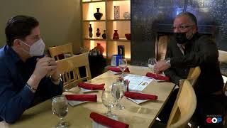 Sen. MacDonald visits Sajo's to talk shutdown's impact on restaurants