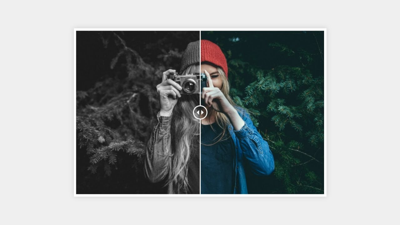 Awesome Image Comparison Slider using HTML CSS & JavaScript