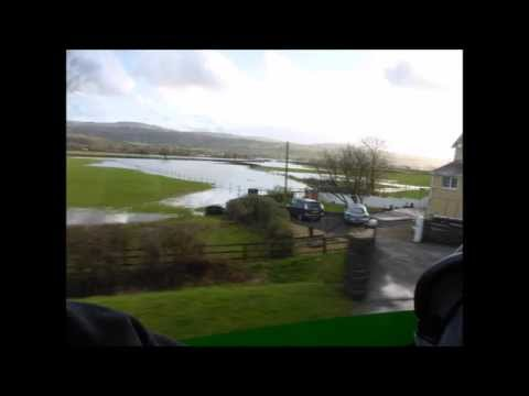 FLOODS IN SOUTH WEST WALES 2014. UK