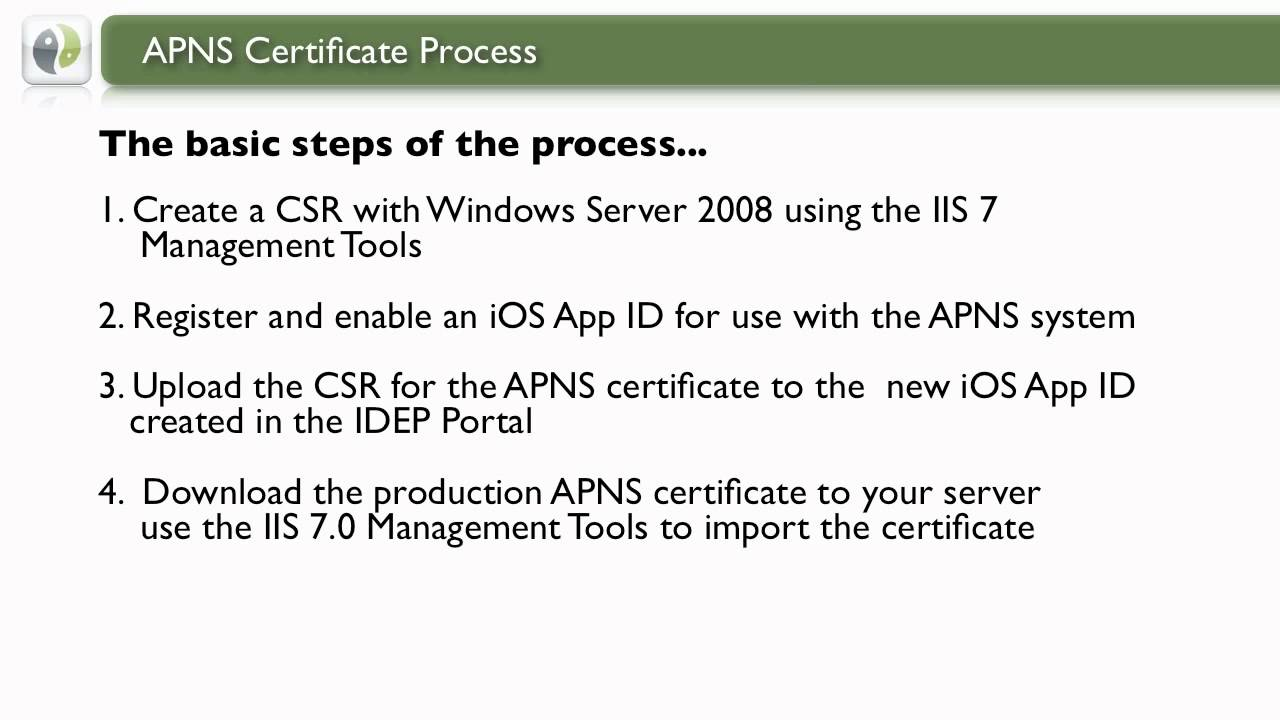 Apns certificate process with zenprise youtube 1betcityfo Image collections