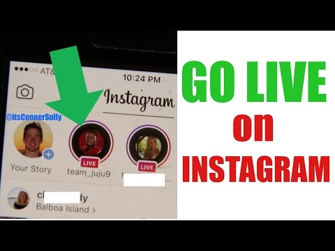 How to use INSTAGRAM LIVE! (Go Live) - YouTube