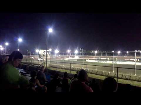 Kevin Thomas Jr takes the win at Bridgeport speedway