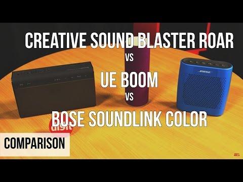 Showdown: Creative Sound Blaster Roar vs UE Boom vs Bose SoundLink Color
