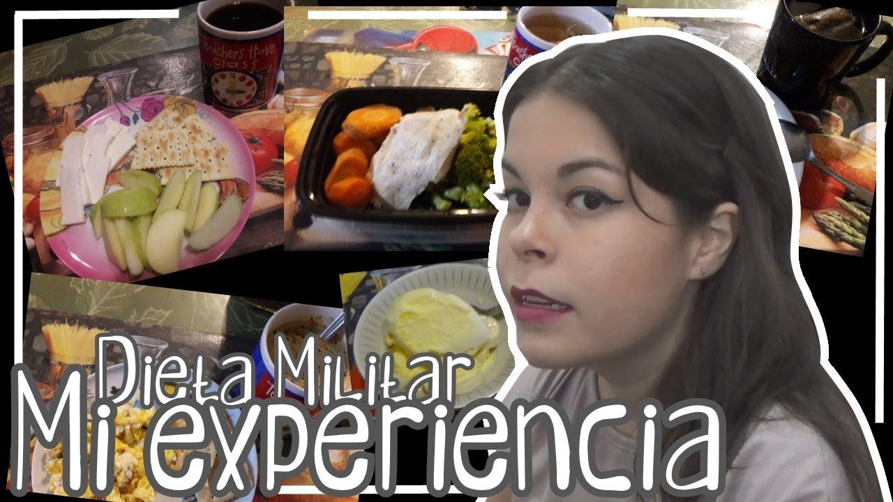 Dieta militar experiencia