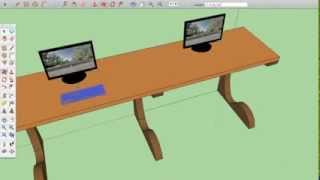 Office Trestle Table Sketchup