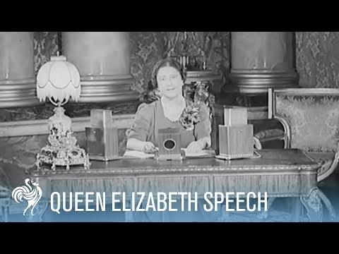 Queen Elizabeth (Queen Mother) Speaks to the Nation
