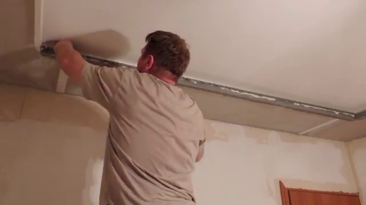Подвесной потолок из гипсокартона с подсветкой. Часть вторая.