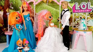 LOL OMG Doll Family Wedding Morning Routine - Neonlicious Sister Gets Married!