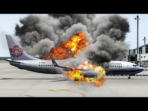 Boeing 737 Explodes Just After Landing | China Airlines Flight 120