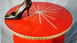 Diy Lazy Susan Shoe Rack, Part 2 Of 2