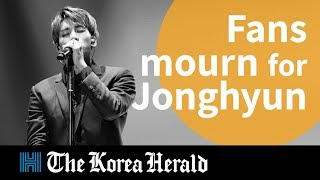 SHINee Jonghyun's memorial room crowded with fans