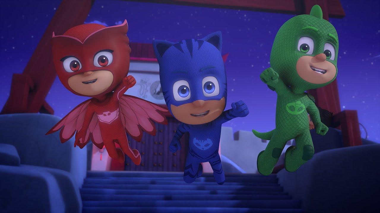 pj masks episodes official super level game cartoon  youtube