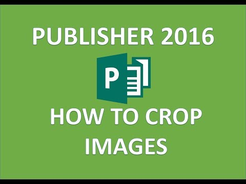 Publisher 2016 - Cropping Pictures - How To Crop A Picture Or Image & Images To Shape In MS Tutorial