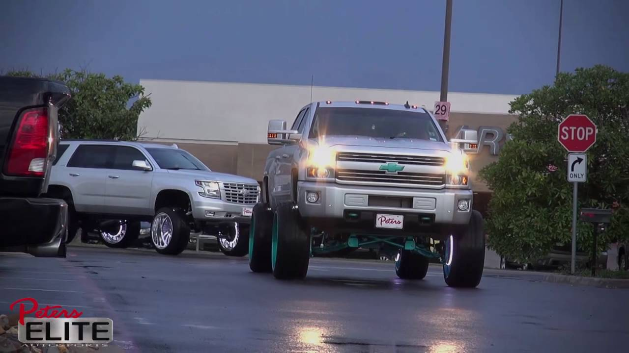 2016 Tahoe Lifted >> 2016 Chevy Tahoe 2016 Chevy Silverado 2500 Full Custom Lift Wheels Tires - YouTube