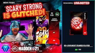 EA BROKE IT AGAIN! 52 GLITCHED PACKS! SCARY STRONG AARON DONALD COMPLETE [MADDEN 21]