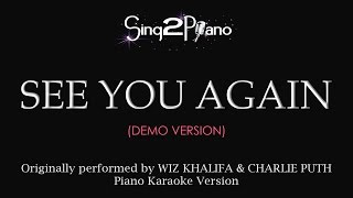 see you again piano karaoke demo wiz khalifa charlie puth