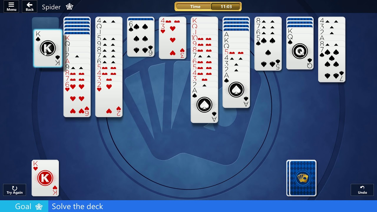 microsoft spider solitaire collection free