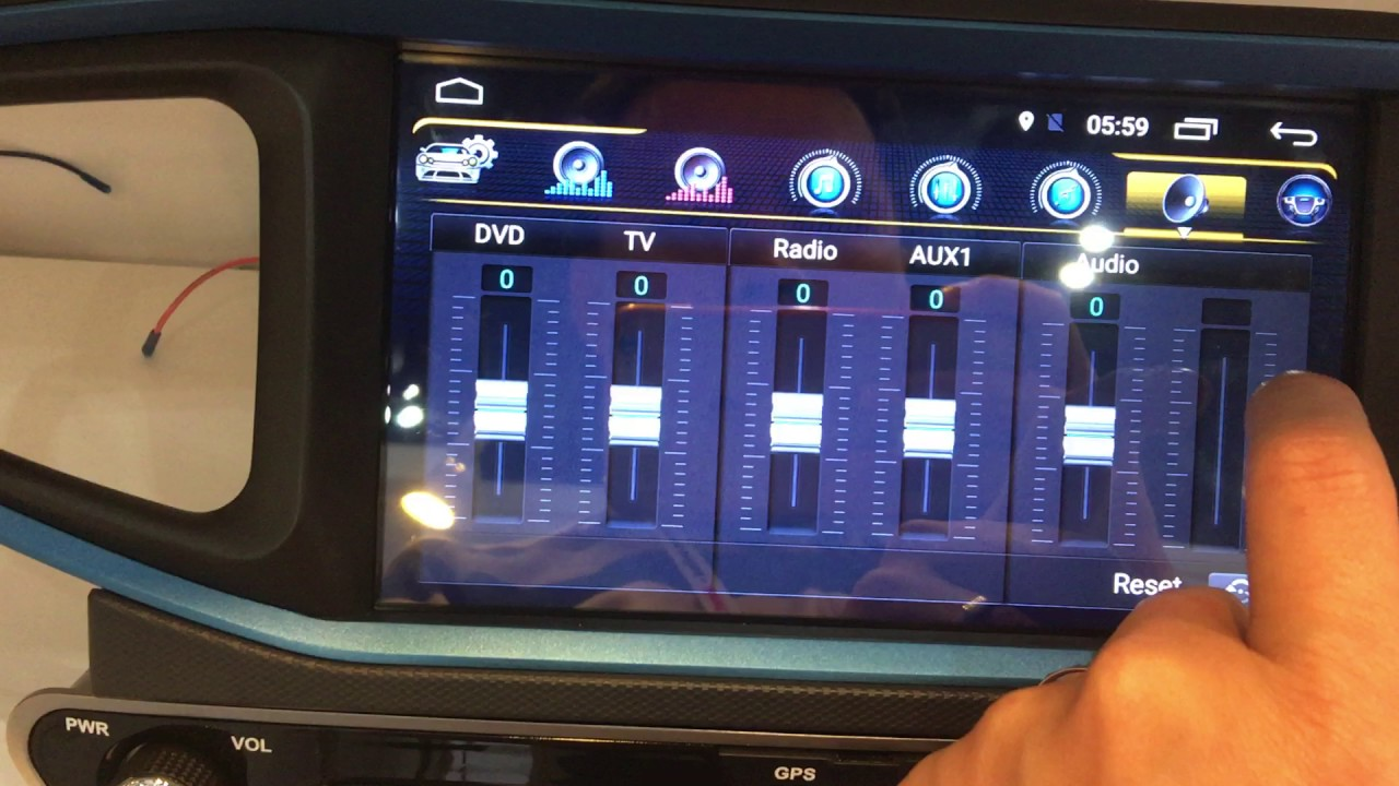 Android headunit with DSP 31 band EQ and more settings