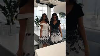 P 0965 A Платье коктейльное из двухцветного гипюра с мягким трикотажем video