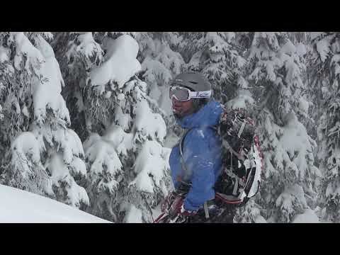 Backcountry skiing at the Fairy Meadow hut in the Selkirk Mountains, British Columbia Feb 2014