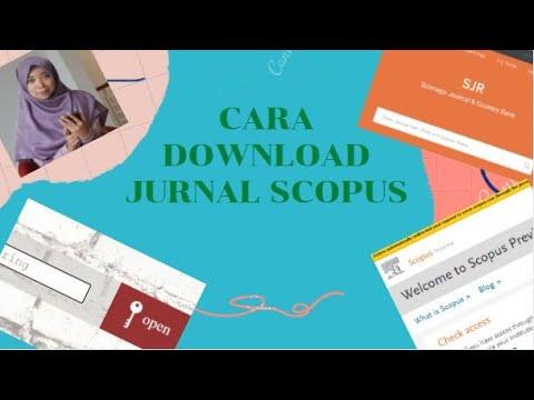 CARA DOWNLOAD JURNAL SCOPUS - YouTube