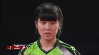 韓国オープン2017女子シングルス準々決勝 平野美宇vsツォン・ジエン (シンガポール)第1ゲーム