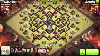 Clash Of Clans   CV9 Ataques 100%   Golens/Magos/Corredores 3 Estrelas!