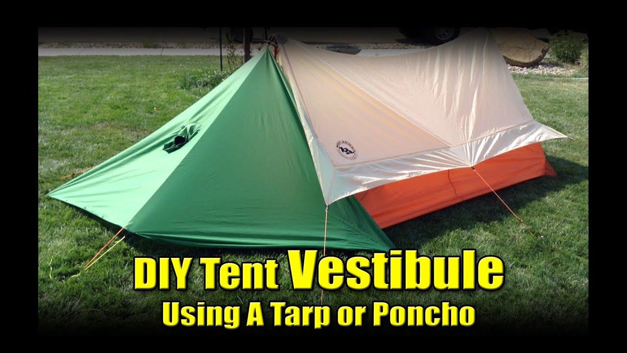 DIY Tent Vestibule From A Poncho Tarp