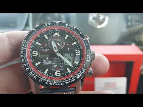 Best New Citizens Eco Drive  Red Arrows Limited Edition Skyhawk  Sapphire Crystal 2019 JY8079-76E