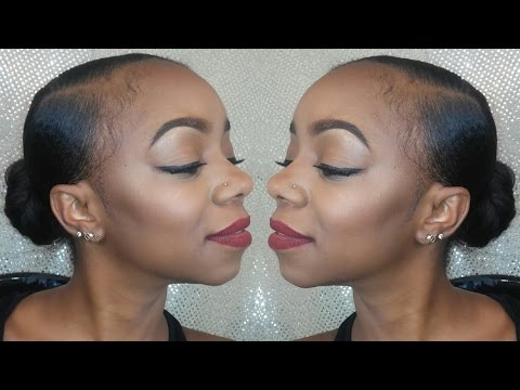 Sleek Low Bun Tutorial Protective Styling Short Hair