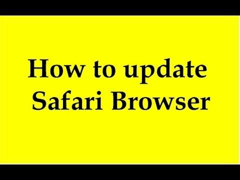 Safari Update