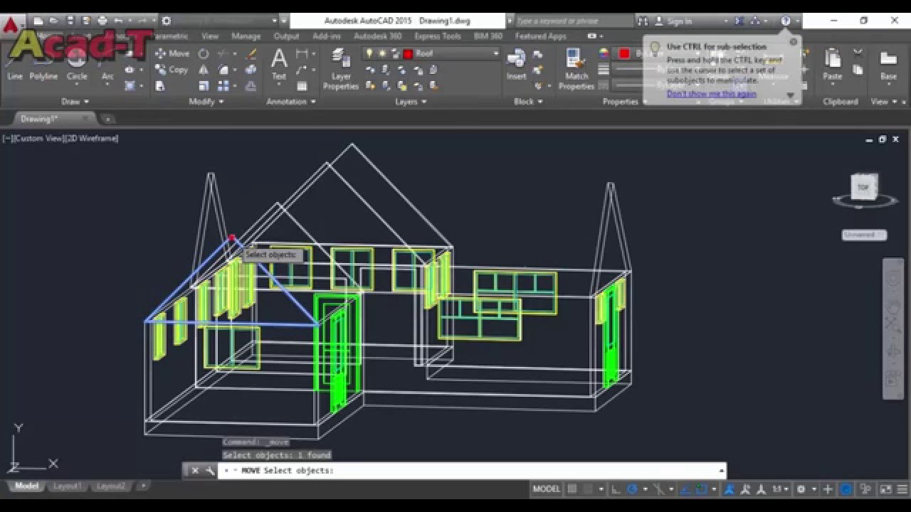 How To Create Complete 3D HOUSE In AutoCAD 2015 3D Modeling Part 3