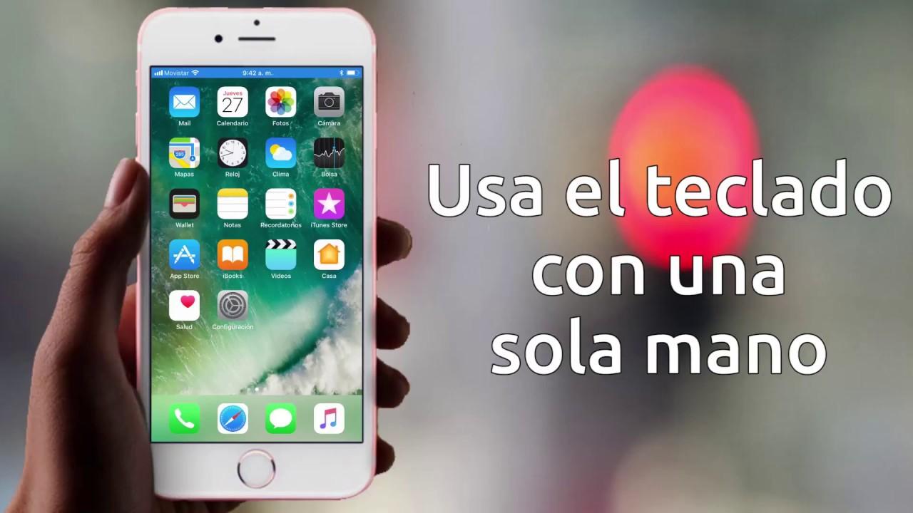 e9547748535 Cómo configurar el teclado con una sola mano en iOS 11 • ENTER.CO