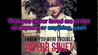 Karaoke : I Knew You Were Trouble - Taylor Swift (Official Instrumental)