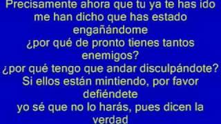 Luis Miguel Culpable o no (letra)