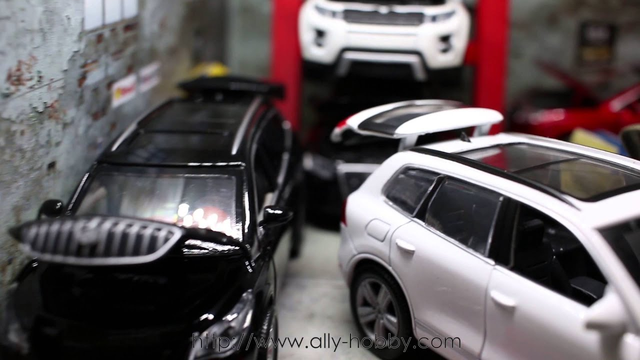 My busy garage diecast vw touareg audi q5 evoque range for Garage volkswagen 92