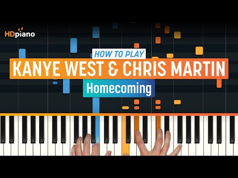 How To Play Homecoming  Kanye West with Synthesia and HDpiano  Piano Tutorial