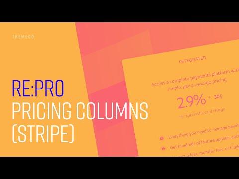 Pricing Columns (Stripe) | re:PRO