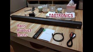 Soundbar TAOTRONICS Bluetooth Lautsprecher 40W 90cm, 4 x Lautsprechern mit Tiefem Bass im Test