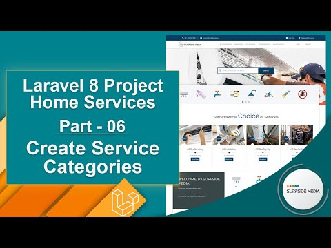 Laravel 8 Project Home Services - Create Service Categories
