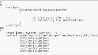 Javascript:  Handling the SELECT onchange event (Part 1 of 2)